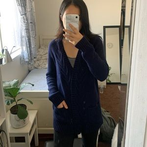 Navy blue Gap cardigan